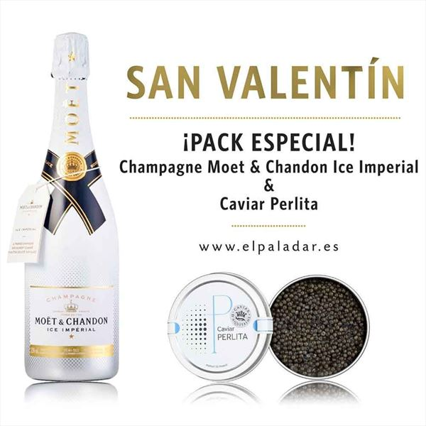 Champagne Moet & Chandon Ice Imperial & Caviar Perlita 100gr.
