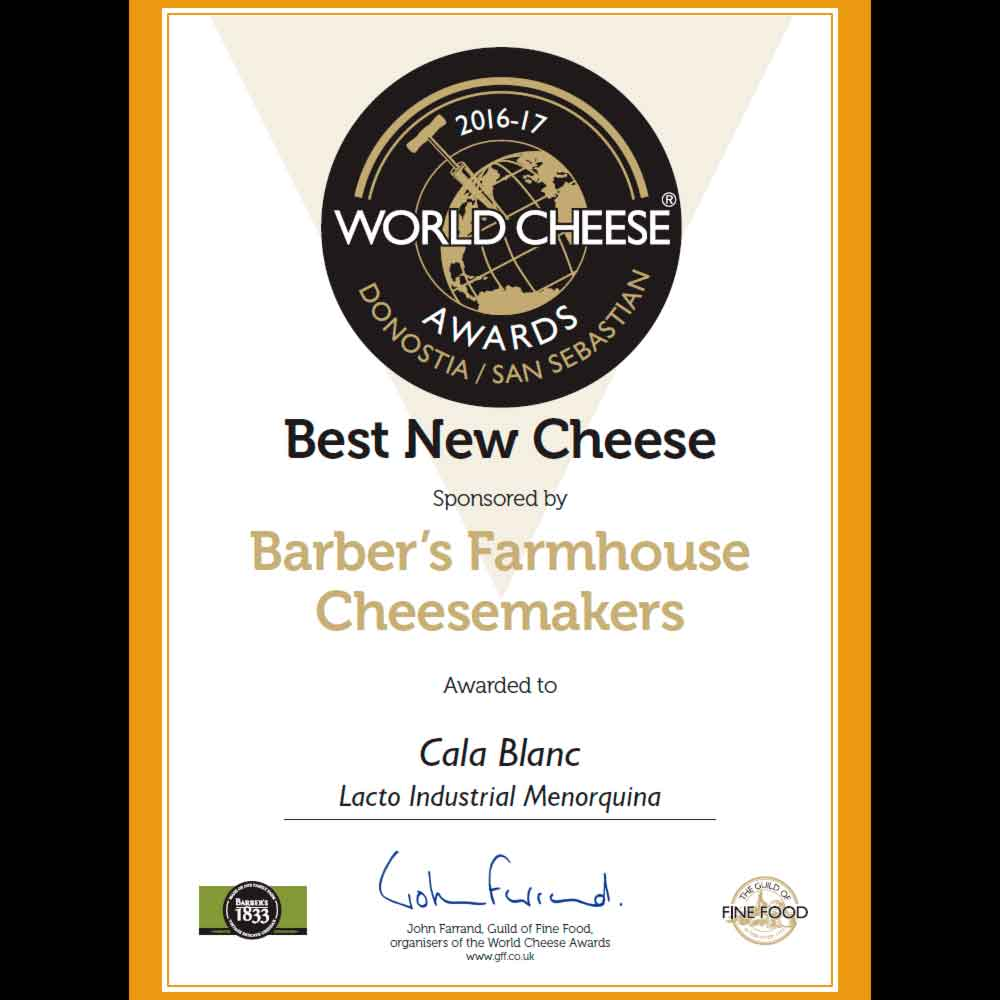 Nuevo mejor queso del mundo 2016 sponsored by Barber's Farmhouse cheesemakers (World Cheese Awards 2016)